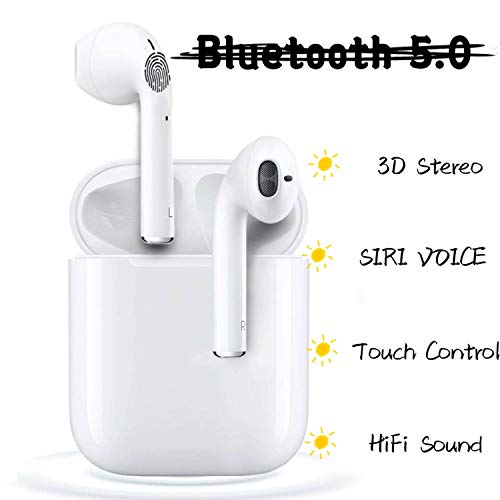 Auricolare Bluetooth,Cuffie Senza Fili,Cuffie Wireless Sport with IPX7 Impermeabile,riduzione del rumore stereo 3D HD,per Apple Airpods/iPhone Airpods Pro/Android