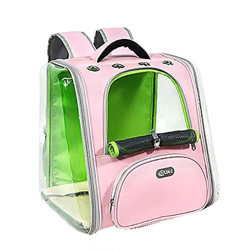 Transparente Space Capsule Pet Bag, Transparenter Space Bag Pet Rucksack Tragbar, Geeignet Für Haustiere Unter 22 Pfund (Color : Pink Green)