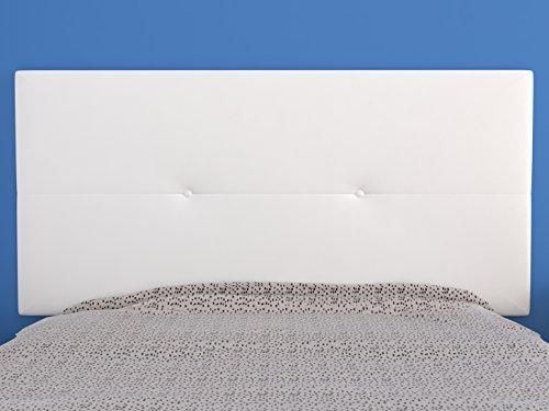 LA WEB DEL COLCHON - Cabecero tapizado Julie para Cama de 105 (115 x 55 cms) Blanco