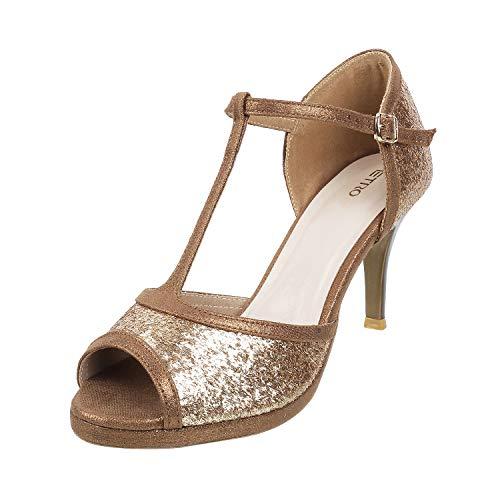 Metro Women's Antiq Gold Fashion Sandals - 7 UK (40 EU) (40-2189)