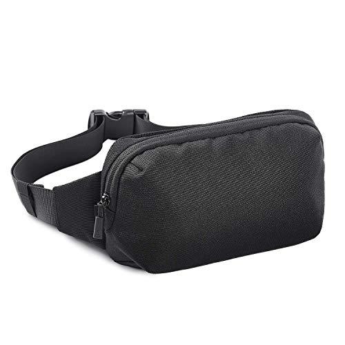 FREETOO Bum Bag Waist Pack Waterproof Tearproof Fanny Pack for Men Women CommutingShoppingTrainingJoggingCyclingHikingTravelFitnessBlack