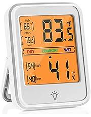 Termómetro Higrometro Digital, Panel de Instrumentos Profesional de Termómetro e Higrómetro con Toque de luz de Fondo Para la Medición de Temperatura y Humedad en Entornos de Oficina en Casa