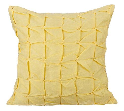 The HomeCentric Housses de coussin décoratives 65 x 65 cm jaune, Coton Jetez les couvertures de coussin, couvertures faites main de coussin -Summer Brewery