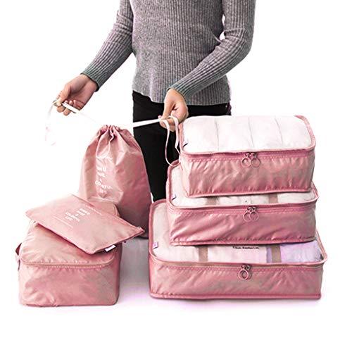 Guangcailun 6PCS/Set Travel Organizer Storage Bag Kit Clothes Organizer Bags Pouch Suitcase Home Closet Bags Container