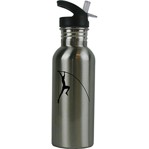 Personalized Custom Pole Vault, Track Stainless Steel Water Bottle with Straw Top 20 Ounce Sport Water Bottle Customizable