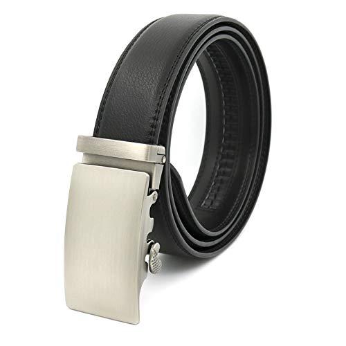 Xme Cinturón de cuero de gama alta automático de negocios para hombres, cinturón de moda casual de cuero de dos capas