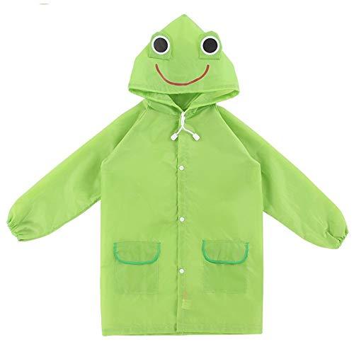 YUELANG Style Imperméable Enfants Imperméable Mignon Lapin Bébé Manteau De Pluie Étudiant Imperméable Enfants Vêtements De Pluie (Color : Green, Size : Height 105 125 cm)
