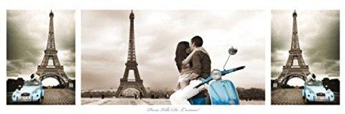 1art1 Tour Eiffel Midi Poster - Triptyque, Paris, Ville De l'amour (91 x 30 cm)