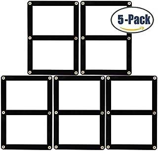 BCW スクリューダウン カードホルダー - Black Border - 黒ふち (2枚用(5パックセット))