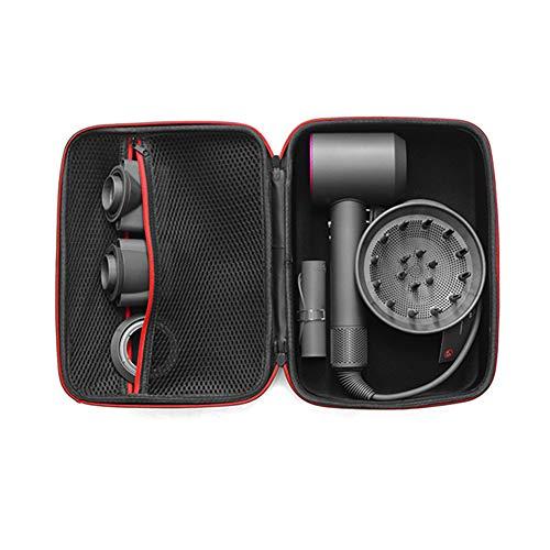 kylew Estuche de Viaje para secador de Pelo Dyson Supersonic HD01 HD03 - Caja rígida con Cremallera para 4 boquillas y 1 secador de Pelo