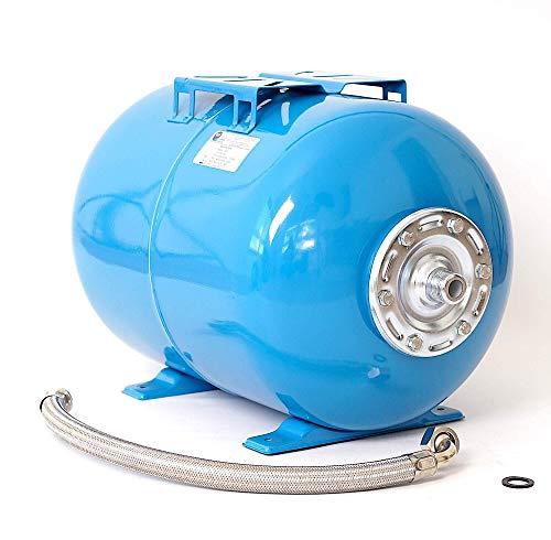 50L Druckkessel Druckbehälter Membrankessel Hauswasserwerk Pumpe EPDM Membran + Panzerschlauch