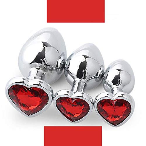 Juguete Cosplay 3 Piezas para Fiesta En Forma De Corazón (Rojo)