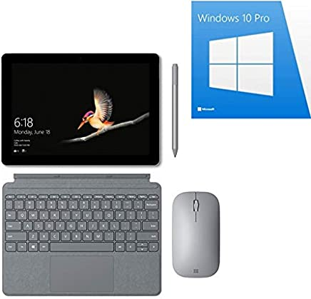 Microsoft Surface Go Win 10 Pro Business Tablet, up to 8GB/128GB, 10in Touch Screen, Intel Pentium Gold Platinum Type Cover, Mouse and Pen Bundle (Renewed)