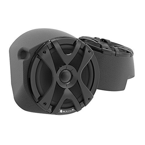"Premium 8"" Speaker Enclosures   Preloaded with 8"" Exile Audio Speakers for RZR XP1000 UTV   Fiberglass Professional Quality   600W RMS Rated"