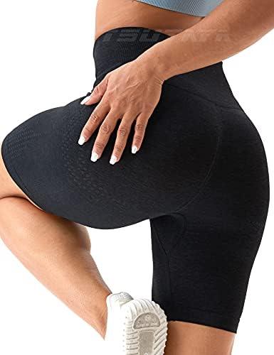 TSUTAYA Women's Seamless Workout Biker Shorts High Waist Gym Running Cycling Athletic Tummy Control Summer Yoga Pants