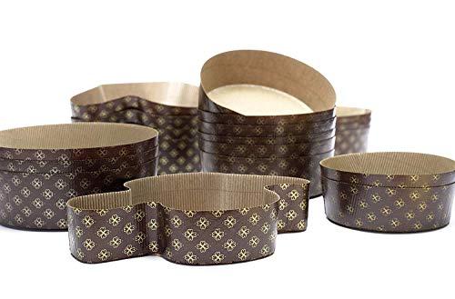 Ducomi Papierbackformen in Taubenformen aus widerstandsfähigem Papier - Perfekt für Ostern und italienische Süßwaren wie Colomba Pasquale - Made in Italy (750 gr, 4 Pz)