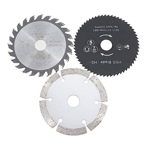 ShiSyan Hojas de Sierra Circulares, 3pcs 85 mm Discos de Corte Circular...