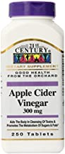 21st Century Apple Cider Vinegar 300mg Tablets, 250 Count by 21st Century