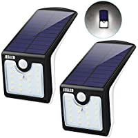 2-Pack JESLED Solar Motion Sensor LED Lights Outdoor with Back Lighting