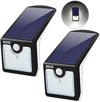 2-Pack JESLED Solar Motion Sensor LED Lights Outdoor