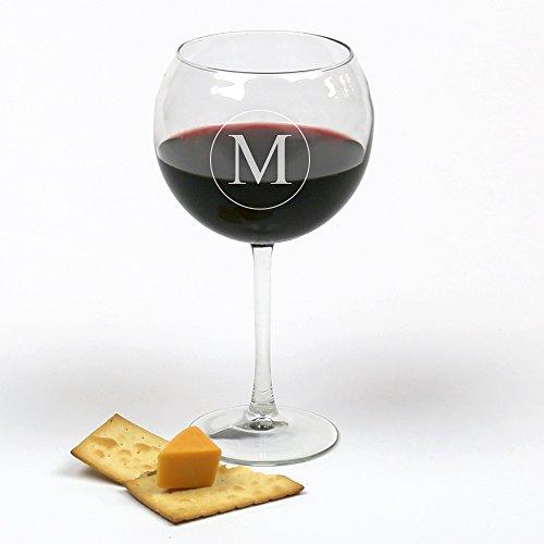 Personalisierte Direct Personalisierte Initiale Arc Cachet rot Wein Glas