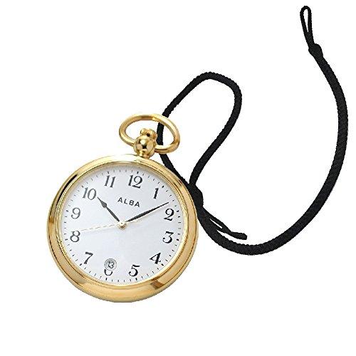 [セイコーアルバ](SEIKO ALBA)懐中時計 AQGK446と懐中時計専用紐HB-1房なし(ブラック)セット