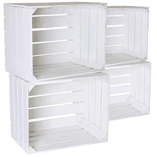 4 pcs massive cajas de fruta blanca + + + blanco