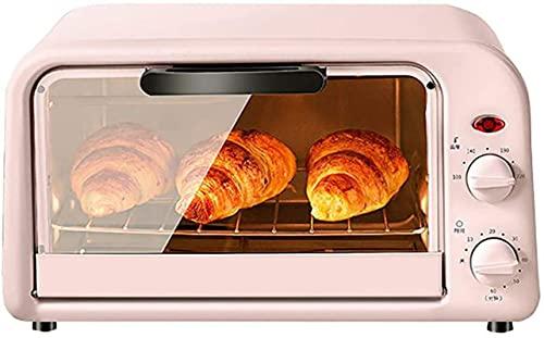 Mini horno eléctrico negro 10L con función de cocción y parrilla de múltiples aplicaciones, control de temperatura ajustable, temporizador, para hornear pastel de pizza postre
