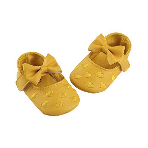 DEBAIJIA Buty dla dziewczynek, żółty - Hs01 żółty - 17 EU