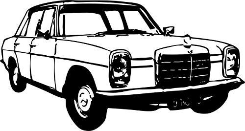 Wandtattoo: Mercedes-Benz/8, Strich-Acht, W 114 W 115, Mercedes-Benz, Daimler, Auto, Tuning, Accessoire // Farb- und Größenwahl (Schwarz - 840 mm x 450 mm)