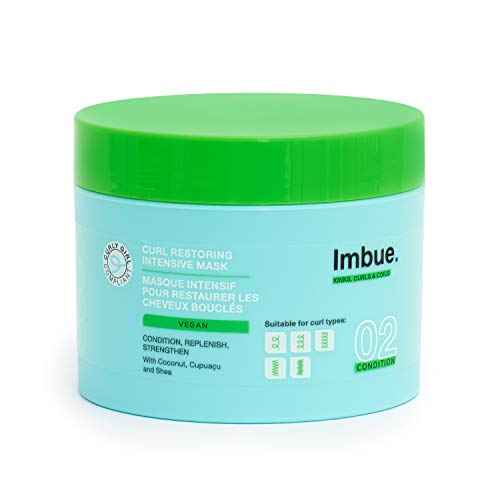 Imbue Curl Restoring Intensive Mask - Protein Rich Deep Conditioner, Vegan and Curly Girl Friendly, 300ml