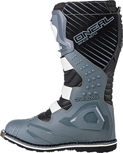O'Neal Rider Boot MX Cross Stiefel Schwarz Grau Motorrad Enduro Motocross Offroad, 0329-9, Größe 41 - 4
