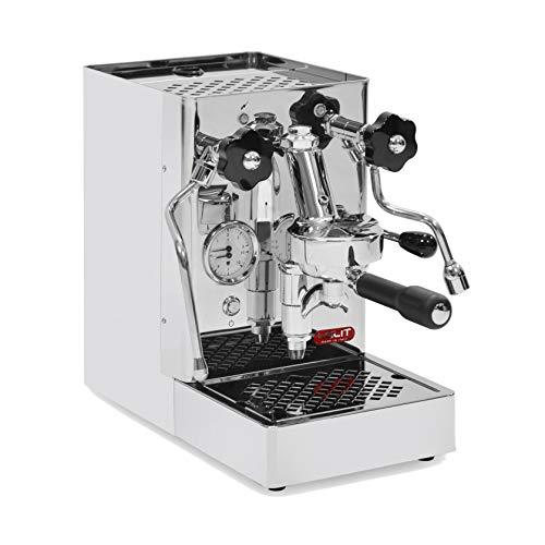 Lelit Mara PL62 Professionelle Kaffeemaschine mit E61-Gruppe für Espresso-Bezug, Cappuccino-Edelstahl-Gehäuse, Stainless Steel, Silber