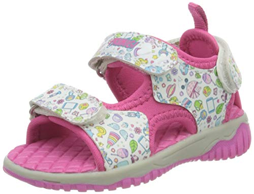 PRIMIGI Sandalo Primi Passi Bambina, Pink BCO 5450011-Mult Fuxia, 22 EU