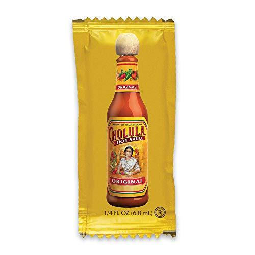 Cholula Original Hot Sauce | 200ct 025oz Single Serve Packets | Crafted from Mexican Peppers and Signature Spice Blend | Gluten Free Kosher Vegan Sugar Free | Best Thing to Ever Happen to Food