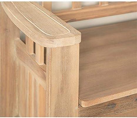 Riverbay Furniture Storage Short Split Seat Storage in Walnut