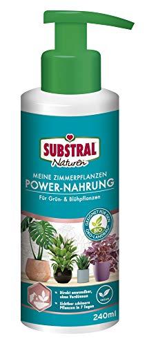 Substral Naturen Meine Zimmerpflanzen Power Nahrung, Veganer rein pflanzlicher Bio-Flüssigdünger, 240 ml