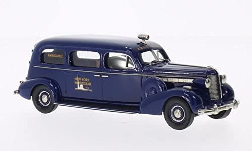 Buick Flxible, Sterling Ambulance World's Fair, blau, 1938, Modellauto, Fertigmodell, Brooklin 1 43