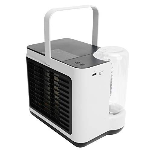 Enfriador de aire personal, mini ventilador de aire acondicionado de carga Usb de iones negativos silenciosos, ventilador de enfriamiento de agua rápido de escritorio portátil para dormitorio(blanco)