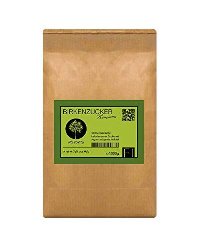 Xylit Birkenzucker Zuckerersatz aus Finnland │1kg Xylitol im plastikfreien Papierbeutel │ersetzt Zucker 1:1