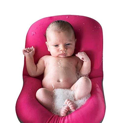 Moonvvin - Materassino galleggiante per il bagno del neonato, materassino morbido con cuscino Red