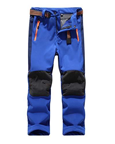 CAMLAKEE Pantalones Senderismo Niño Niña, Pantalon Softshell Impermeable Transpirable Pantalones Trekking Montaña...