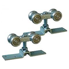 Beschlag Türgewicht max 90 kg,Trägerplatte 95x 23mm Rollen Durchmesser 23mm, Wagenbreite 26mm, Wagenlänge 65mm