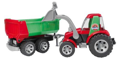 Bruder 3338036 ROADMAX tractor met voorlader en kantelaanhanger