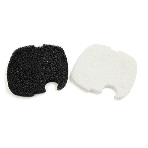 Sourcingmap® 2xAquarium Schwamm Vorfilter Matte Schwarz Weiß für Sonnenschein Kanister Filter de