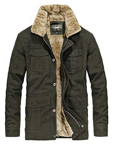 Men's Winter Thicken Coat Warm Fur Collar Trucker Jacket