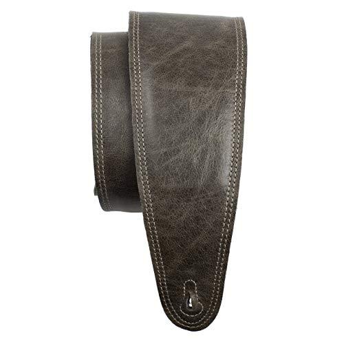 Perri's Leathers Ltd. - Correa de guitarra - Cuero - Acolchado - Marrón Vintage - Cobre - Ajustable - Para guitarras acústicas/bajas/eléctricas - Fabricada en Canadá (BM35PD-7134)