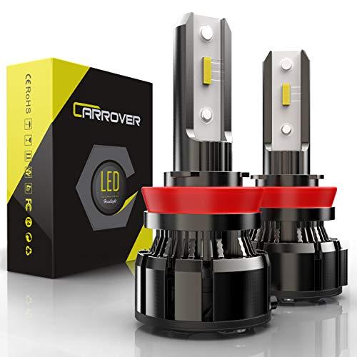 H11 LED Headlight Bulb, CAR ROVER 50W 10000Lumens Extremely Bright H8 H9 Xenon White 6000K CSP Chip LED Conversion Kit