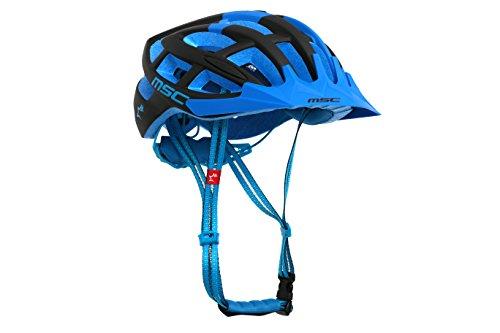 MSC Bikes HX100MLBKBU Casco de MTB, Negro y Azul, M/L (58cm-61cm)
