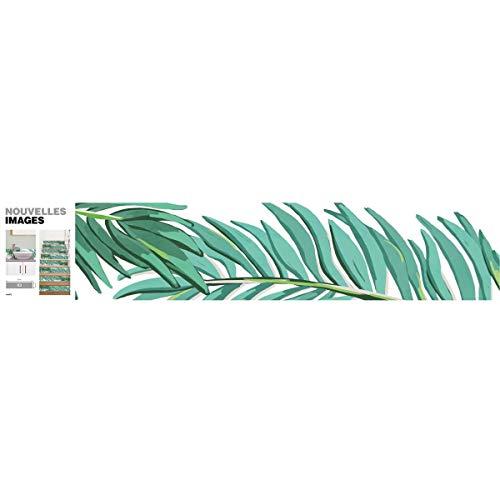 Draeger Paris – Tiras adhesivas para azulejos o escaleras – Ideal para cocinas, cremas, escalones – 3 bandas – Dimensiones: 98 x 19,5 cm – Diseño de palmera